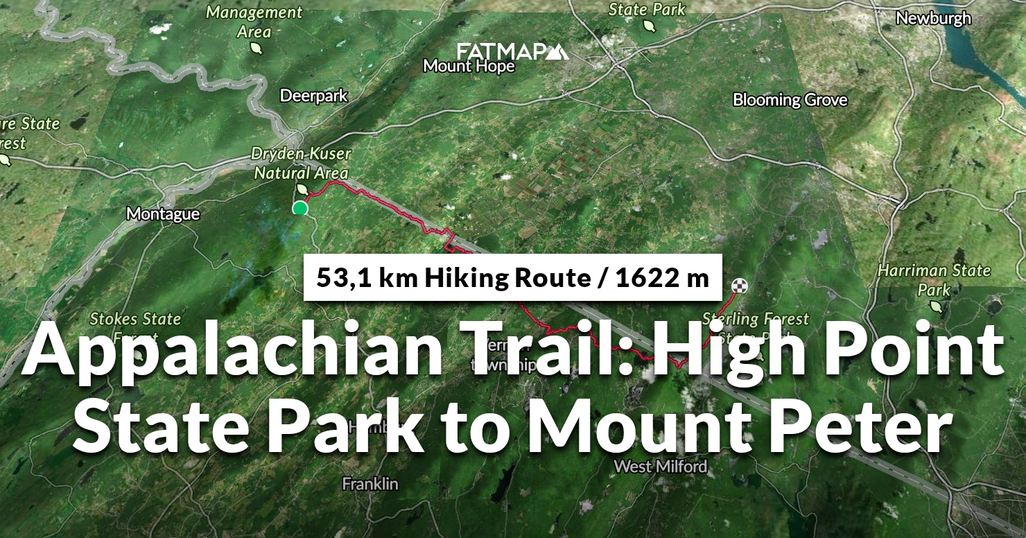 Appalachian Trail: High Point State Park to Mount Peter Outdoor map on